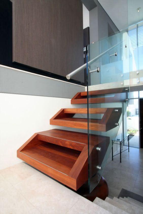 mẫu thiết kế cầu thang gỗ đẹp 65