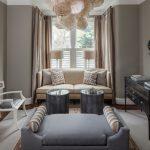 phòng khách nhỏ với thất kế nội thất cổ điển