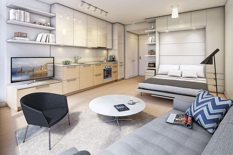 thiết kế căn hộ nhỏ đẹp linh hoạt thông minh