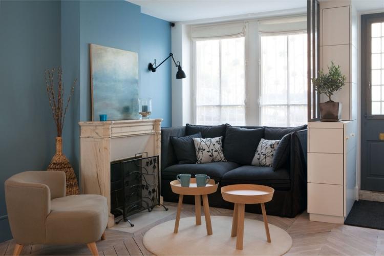 ý tưởng trang trí nội thất phòng khách nhỏ với ghế sofa nhỏ