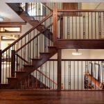 mẫu thiết kế cầu thang đẹp được làm từ gỗ sắt kính inox 12