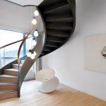 mẫu thiết kế cầu thang đẹp được làm từ gỗ sắt kính inox 14
