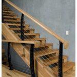 mẫu thiết kế cầu thang đẹp được làm từ gỗ sắt kính inox 2