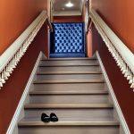 mẫu thiết kế cầu thang đẹp được làm từ gỗ sắt kính inox 30