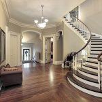 mẫu thiết kế cầu thang đẹp được làm từ gỗ sắt kính inox 33
