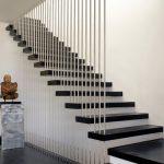 mẫu thiết kế cầu thang đẹp được làm từ gỗ sắt kính inox 6