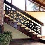 mẫu thiết kế cầu thang đẹp được làm từ gỗ sắt kính inox 7