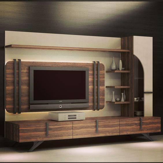 những mẫu tủ tivi gỗ đẹp cho phòng khách sang trọng 2018