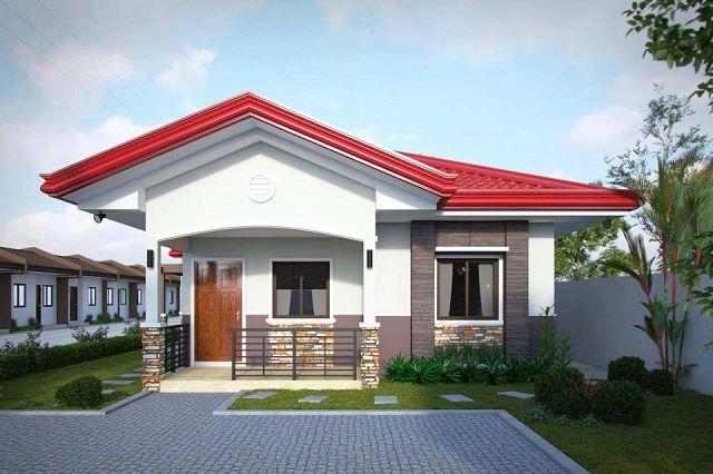 Mẫu nhà cấp 4 đẹp 5x20m với kiến trúc mái thái ấn tượng.