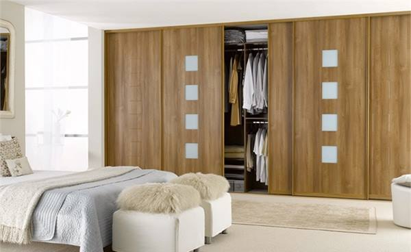 mẫu tủ quần áo gỗ sồi hiện đại