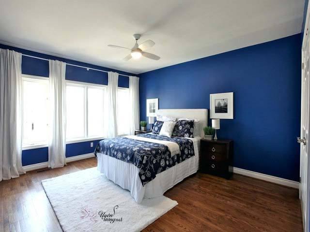 Phòng ngủ đẹp hiện đại với màu xanh dương