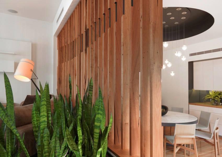 Vách ngăn phòng bằng gỗ đẹp