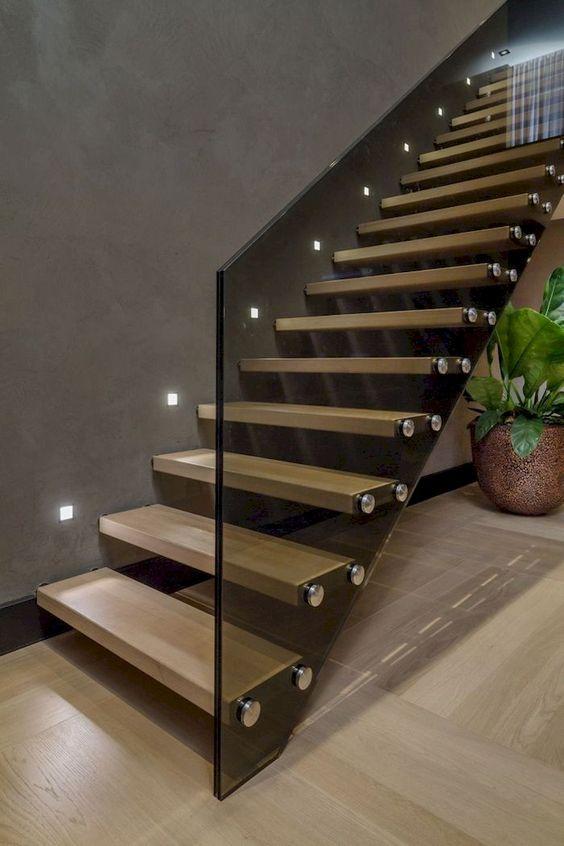 đèn trang trí cầu thang kiểu âm tường